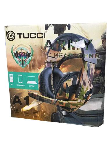 هدست گیمینگ ارتشی مدل Tucci A1 (استوک)