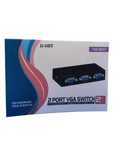 سویچ دو پورت VGA دی نت مدل D 58