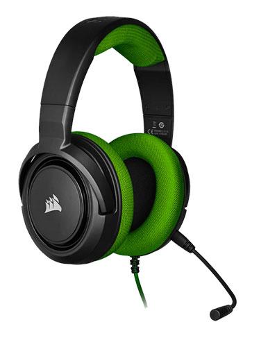 هدست بازی کورسیر مدل HS35 Stereo Green