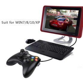 ساخته شده برای کلیه سیستم ها دسته بازی کامپیوتر باسیم Gamepad Xbox 360 Wired Controller for Windows