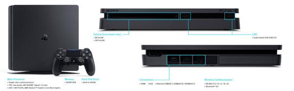 مشخصات کنسول بازی سونی اسلیم 500 گیگابایت ریجن 2 اروپا PlayStation 4 Slim 500GB Console