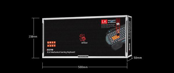 خرید کیبورد گیمینگ بلادی مدل Bloody B318 Key Light Strike