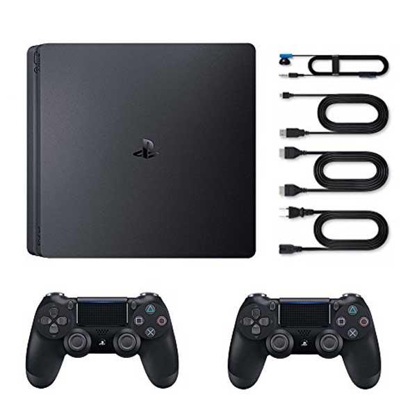 کنسول بازی سونی اسلیم 1 ترابایت دو دسته PS4 Slim 2 Controllers 2116B Region 2 1TB