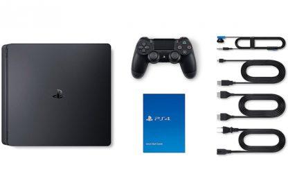 محتویات پکیج کنسول پلی استیشن 4 اسلیم 1 ترابایت ریجن 2 اروپا Sony PlayStation 4 Slim Region 2 1TB 1 Controller