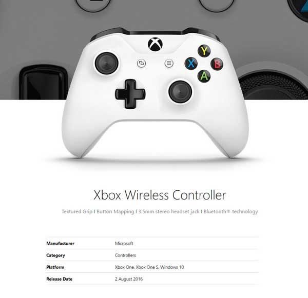 دسته بازی ایکس باکس وان اس WIRELESS CONTROLLER XBOX ONE S White