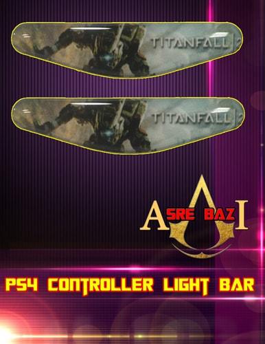 لایت بار ژله ای رنگی 2 تایی گیم پد پلی استیشن 4 طرح (Titanfall 2)