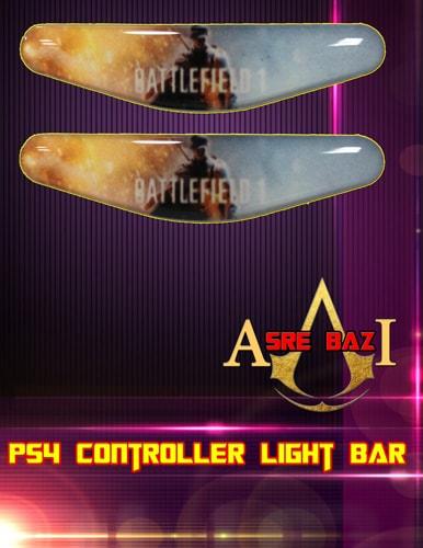 لایت بار ژله ای رنگی 2 تایی گیم پد پلی استیشن 4 طرح (Battlefield 1)