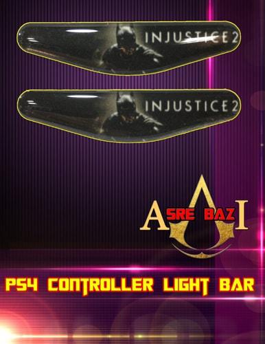 لایت بار ژله ای رنگی 2 تایی گیم پد پلی استیشن 4 طرح (Injustice 2)
