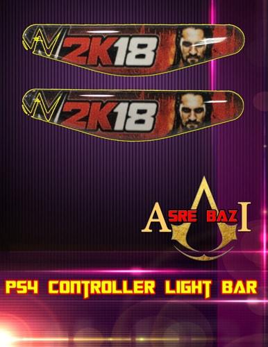 لایت بار ژله ای رنگی 2 تایی گیم پد پلی استیشن 4 طرح (WWE 2K18)