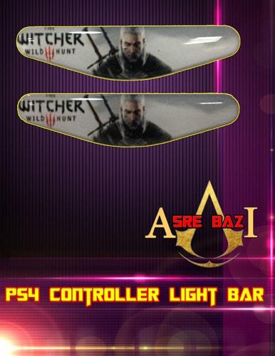 لایت بار ژله ای رنگی 2 تایی گیم پد پلی استیشن 4 طرح (The Witcher 3 Wild Hunt)