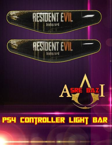 لایت بار ژله ای رنگی 2 تایی گیم پد پلی استیشن 4 طرح (Resident Evil 7 Biohazard)
