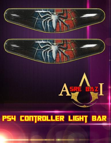 لایت بار ژله ای رنگی 2 تایی گیم پد پلی استیشن 4 طرح (The Amazing Spider Man)