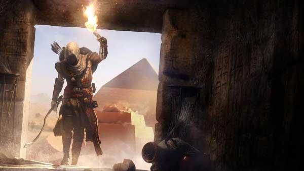 شبیه سازی اهرام مصر با جزئیات بالا در بازی Assassin's Creed Origins