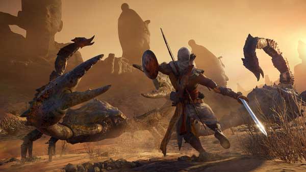 نبردهای جذاب در بازی گیم پلی بازی Assassin's Creed Origins