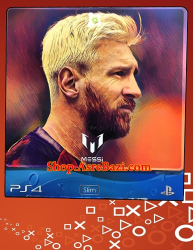 برچسب بدنه و دسته Lionel Messi I Gamer Play Station 4 Slim Cover