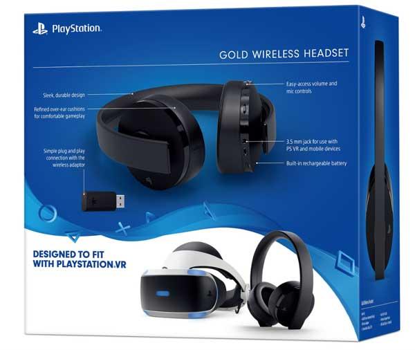 هدست پلی استیشن ۴ سری جدید Gold Wireless Headset New Version 2
