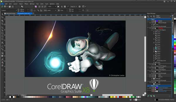 امکانات نرم افزار Corel Draw Graphic 2018
