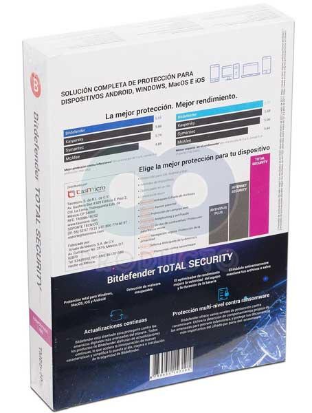 آنتی ویروس اورجینال Bitdefender Total Security 2018 3PC 1Year