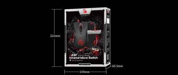پکیج موس گیمینگ A4TECH Bloody A91 Gaming Mouse
