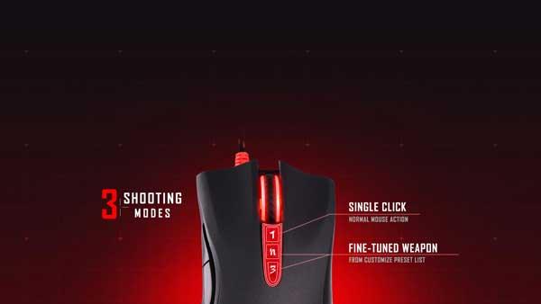 امکانات موس گیمینگ A4TECH Bloody A91 Gaming Mouse