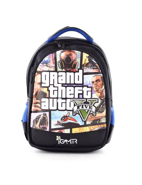 خرید کوله پشتی آی گیمر طرح GTA مناسب برای کنسول بازی