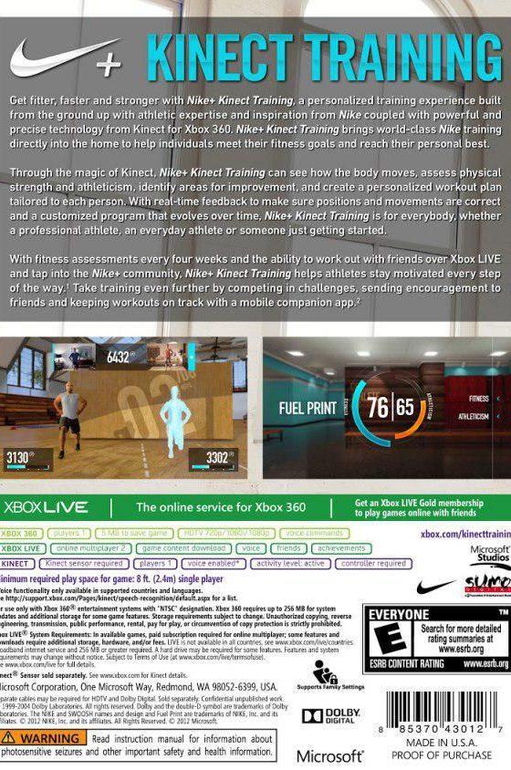 خرید بازی Nike+ Kinect Training Xbox 360