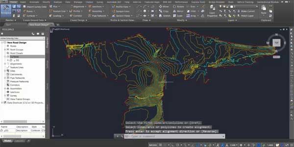 مهندسی شهرسازی Civil 3D