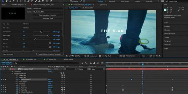 نرم افزار Adobe After Effects Collection