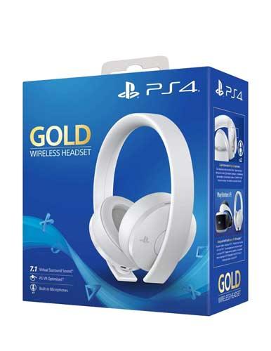 هدست کنسول PS4 مدل Sony new Gold Wireless Stereo White