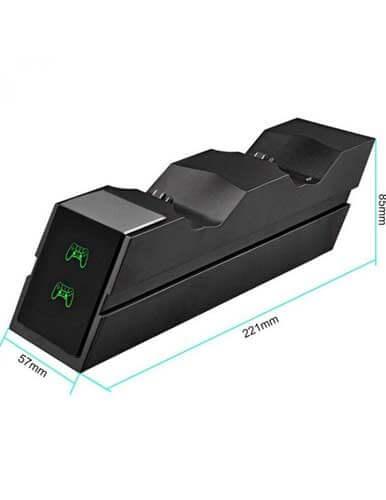 پایه شارژر دوگانه دوال شاک 4 مشگی مدل X7E1