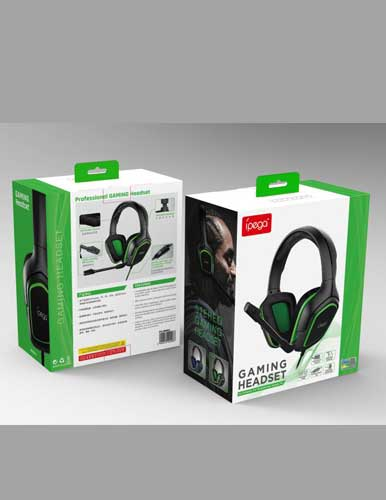 هدست گیمینگ مدل IPEGA GAMING HEADSET GREEN DESIGN