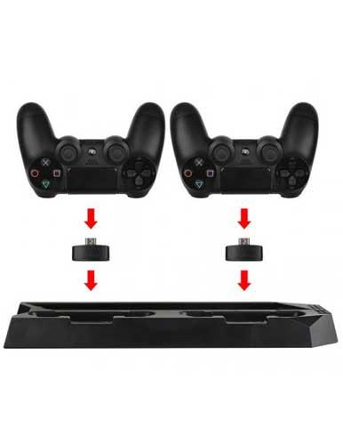 پایه نگهدارنده PS4 Slim PRO دارای فن خنک کننده