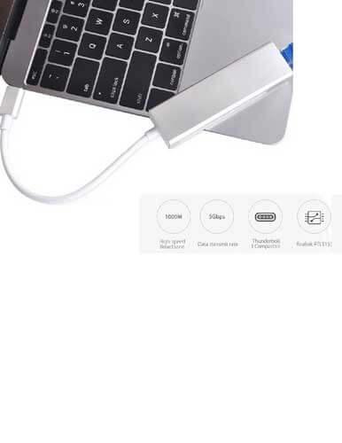 مبدل USB2 Type C به  10-100 Ethernet مدل SG2005 A
