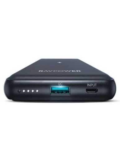 شارژر همراه بیسیم راوپاور مدل RP PB084 ظرفیت 10000 MAH