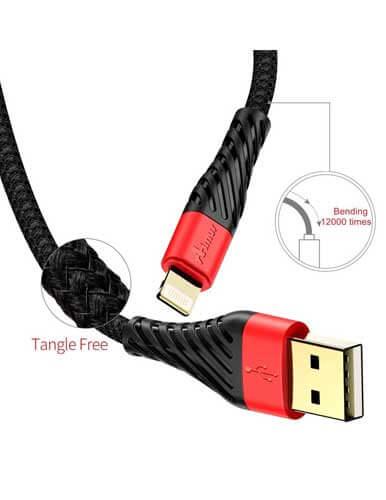 کابل تبدیل USB به لایتنینگ آیموس مدل NY 1 طول 0.25 متر