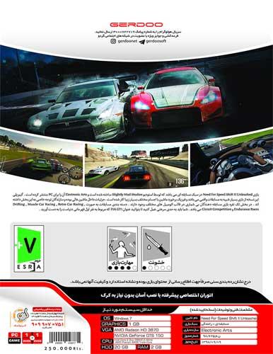 بازی کامپیوتری Need For Speed Shift2 Unleashed