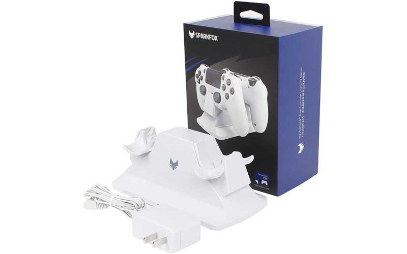 پایه شارژر دوگانه دسته PS4 سفید