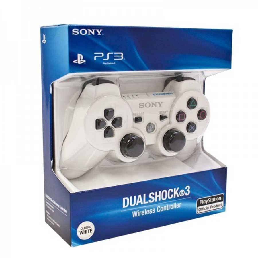 خرید دسته بازی وایرلس سفید DUALSHOCK PS3