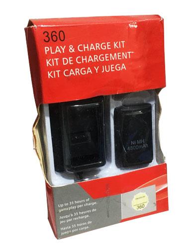 باتری و شارژر 4 کاره ایکس باکس 360 (استوک)