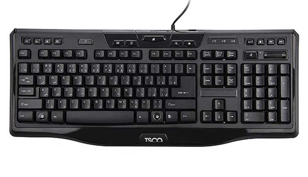 کیبورد تسکو TSCO مدل TK 8018 با حروف فارسی