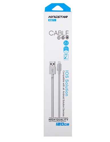 کابل تبدیل USB کینگ استار مدل k67i طول 120 سانتیمتر