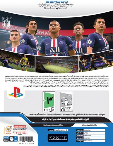 بازی FIFA 21 ویژه کنسول PS2 پلی استیشن 2 با لیگ برتر نشر گردو