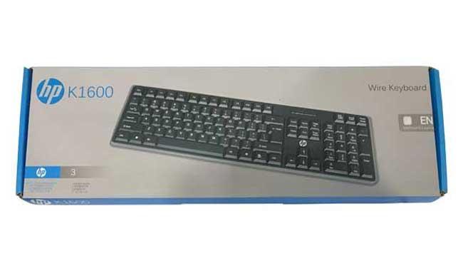 کیبورد مدل K1600 با حروف فارسی برند hp