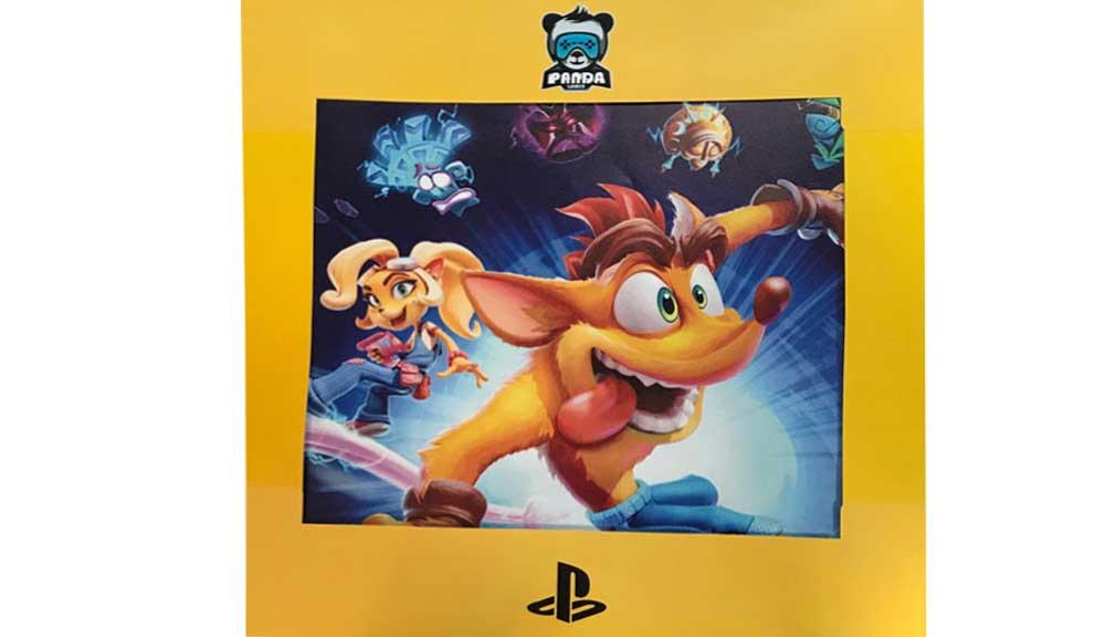 برچسب کنسول PS4 PRO مدل Crash