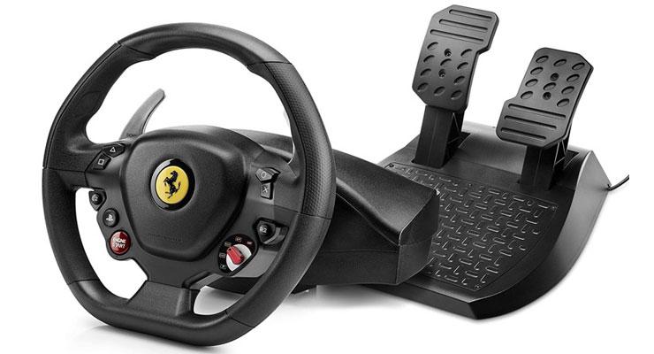 فرمان بازی Thrustmaster T80 مدل Ferrari 488 GTB Edition ویژه کنسول PS4