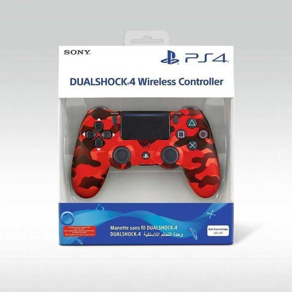دسته بازی اصلی DualShock PS4 طرح قرمز ارتشی جدید