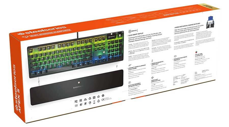 کیبورد گیمینگ RGB مدل SteelSeries Apex 5