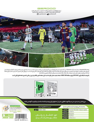 بازی PES 2021 کنسول ایکس باکس XBOX 360 به همراه لیگ برتر